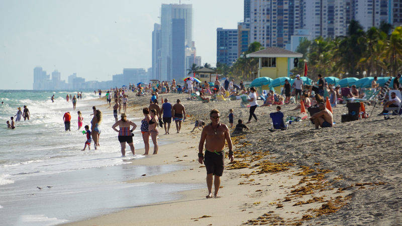 beach at Hollywood Beach, FLorida