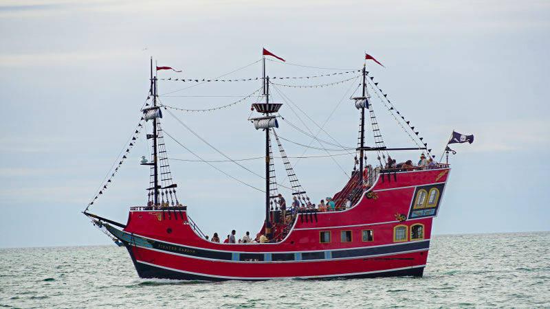 bateau pirate pour touriste, daytona beach