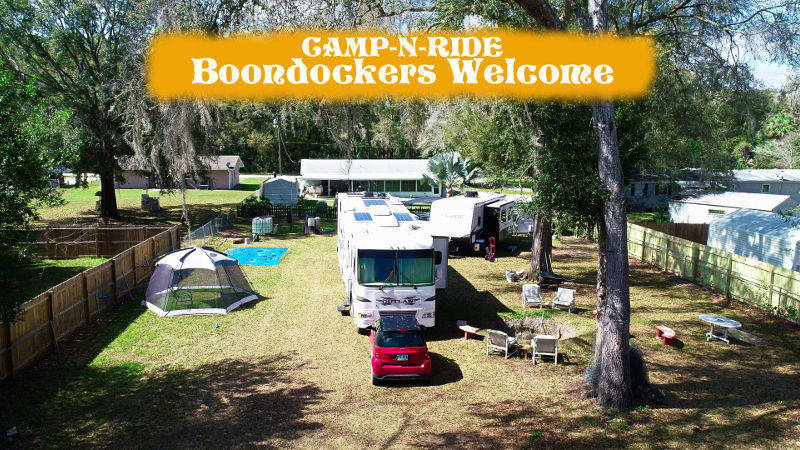 boondockers welcome free rv camping Camp-N-Ride