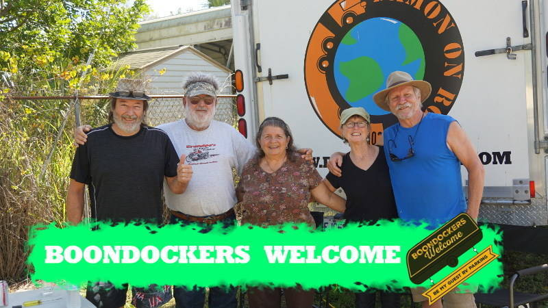boondockers welcome free rv camping Marianne, Randy, Linda, Marion and Rej