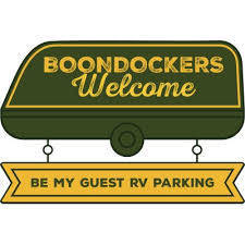 boondockers welcome free rv camping logo