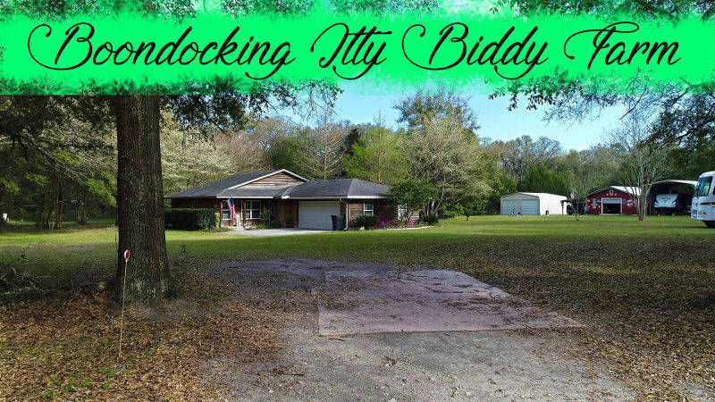 boondockers welcome free rv camping Itty Biddy Farm